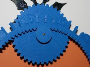 Gear O'clock Slotted 20x Minute Gear