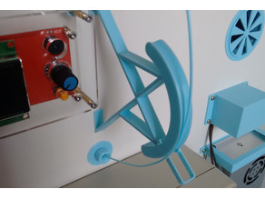 Radial filament guide for cabinet mount