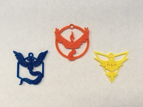 Pokemon Go Team Pendants