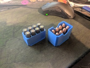 9mm Ammo Box - 8 rounds (2x4)