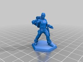 Pax Artifex pointing Pistol (Cyberpunk Character)