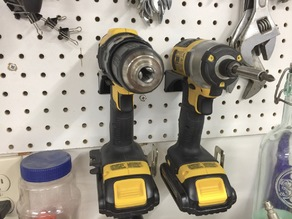 Pegboard Tool Holders; DeWalt Driver, Wrenches, Misc