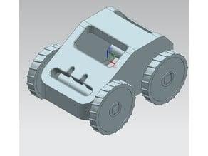 3D print rubber band car