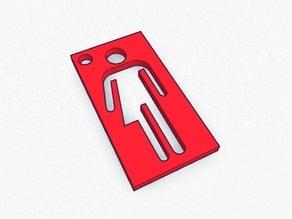 transgender stick figure cut out keychain charm