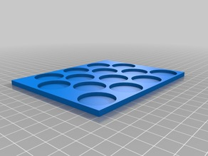 Kings of war movement tray for miniatures with round bases