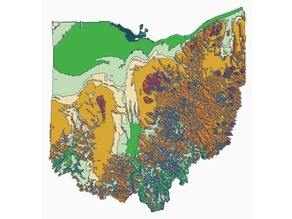 Topographical Map of Ohio