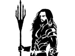 Aqua Man stencil