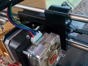 Mk8 extruder rear heatsink + fan support