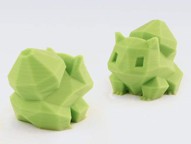 Low Poly Bulbasaur By Flowalistik Thingiverse