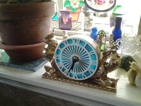Garden Rooster Clock