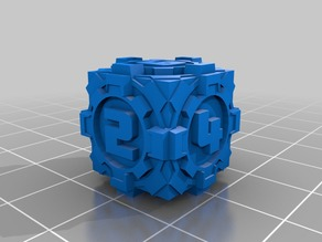 D6 Sci Fi Square Gears Dice - Numbers