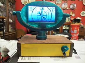 "Philo. The 7"" retro LCD television, "" my recreation of the late 1950s Philco Predicta"""