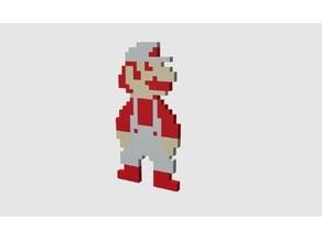 Super Mario Bros - Super Mario fire outfit multicolor sprite