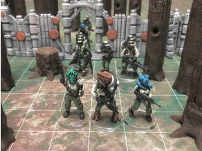 Alien Rebel Troopers (28mm/Heroic scale)