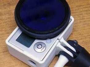 52mm filter adapter for GoPro Hero 3 (for bare lens)