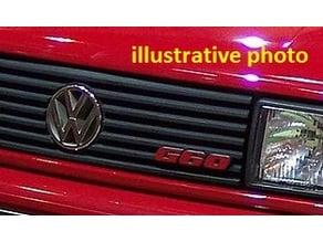 VW Corrado G60 logo front grill