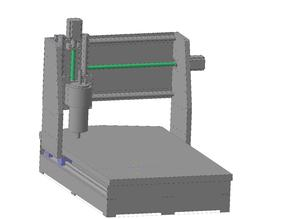 Easy milling CNC machine with a field of 600x400x140 mm.