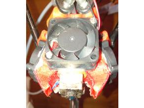 E3D v6 dual 25mm cooling fan holder