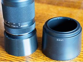 Parametric Olympus reversible lens hood sized for 75-300