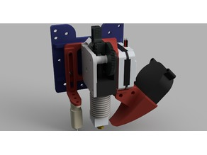 E3D Titan Direct mount v2 with BLTouch and Fan mount