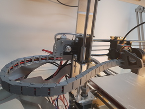 Cablechain mount for nema-17 x axis