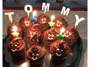 Letters for Cupcake Decorations