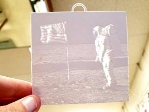 Apollo 11 Lithophane