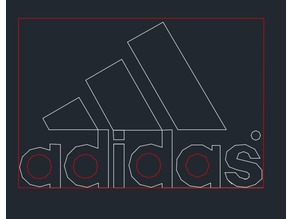 Adidas Logo Laser Engrave