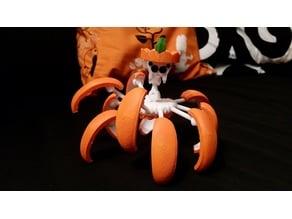 Halloween Pumpkin Spider Transformer (Ready to print)