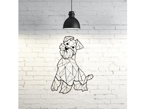 Scottie dog wall sculpture 2D