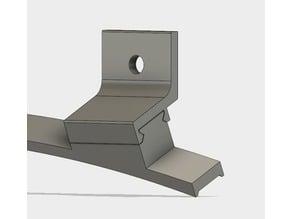 L-bracket for t-nut, fits LED-strip holder for v-slot Reach3Dprinter