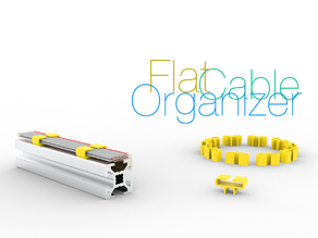 Flat cable organizer