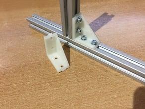 Eckverbinder für Alu-Profil 20 x 20 Nut 6.