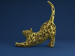 Cat Stretch Voronoi Style