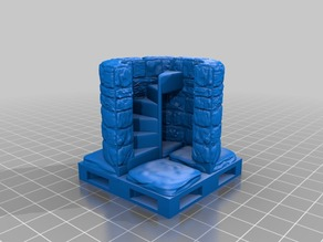 OpenForge 2.0 Corner Spiral Stair Up (ORIG) OpenLock Base