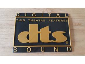 Cinema DTS Sign