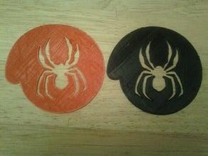 Halloween Spiderccino or A Spider-Cappuccino Stencil.