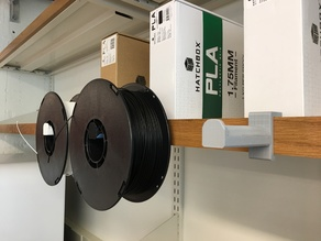Shelf Edge Spool Holder