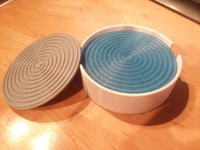 Spiral coasters with holder