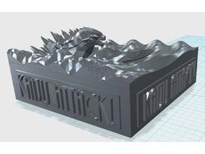 Godzilla Attack Desk Bumper