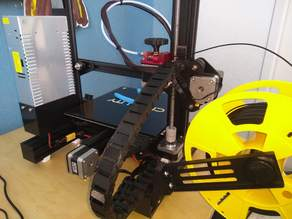 X-Axis Extruder mount for cable chain