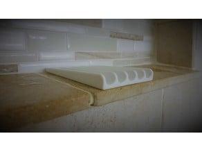 Angled Self Draining Soap Dish - Useful House Prints
