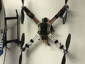 Simple quadcopter wall hooks