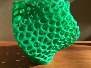 Voronoi Square Twist Vase