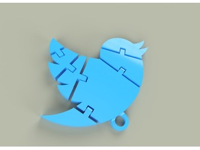 Articulated twitter keychain