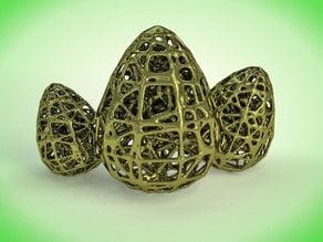 Easter Egg Voronoi Style