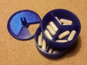 Pill case for 3 times a day
