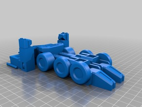 Remixed Optimus Prime (single print, transforms, no supports)