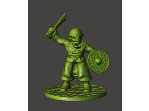 28mm - Orc / Goblin / Hobgoblin Miniatures With Sword 2