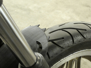 Clip-on motorcycle fender